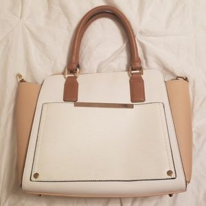 White and Beige Call It Spring Handbag